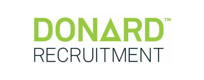 Donard Recruitment's logo takes you to their list of jobs
