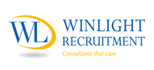Winlight Recruitment's logo takes you to their list of jobs