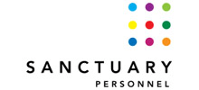 Sanctuary Personnel's logo takes you to their list of jobs