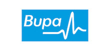 Bupa Ltd's logo takes you to their list of jobs