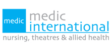 Medic International's logo takes you to their list of jobs