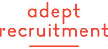 Adept Recruitment's logo takes you to their list of jobs