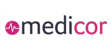 medicor's logo takes you to their list of jobs