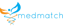 MedMatch's logo takes you to their list of jobs