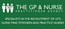 The GP & Nurse Practitioner Agency's logo takes you to their list of jobs
