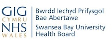 Swansea Bay Health Board's logo takes you to their list of jobs