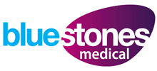 Bluestones Medical's logo takes you to their list of jobs