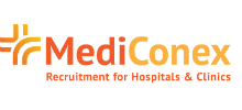 MediConex's logo takes you to their list of jobs