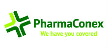 Pharmaconex's logo takes you to their list of jobs