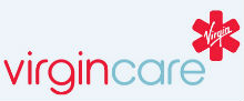 Virgin Care's logo takes you to their list of jobs